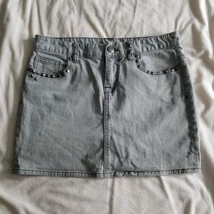 J. Crew Studded Denim Miniskirt